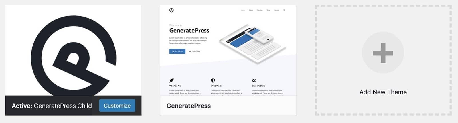 generatepress child theme