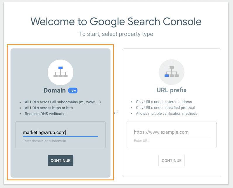 google search console add domain with subdomains min
