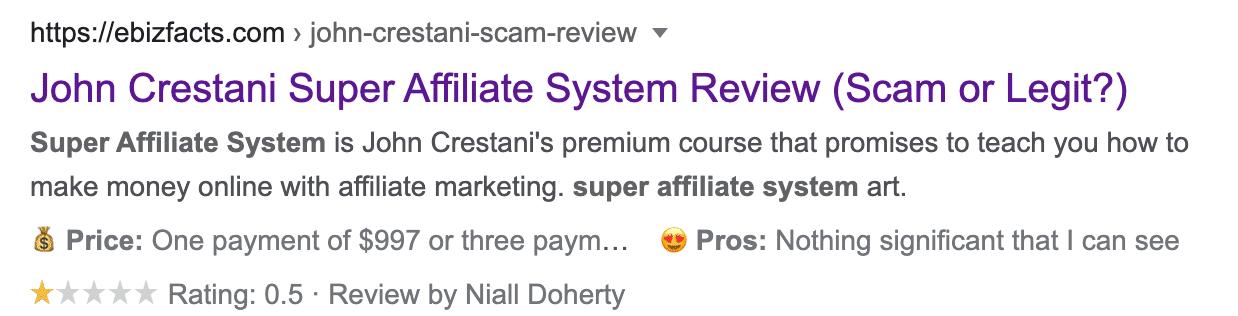 wealthy affiliate negative reviews